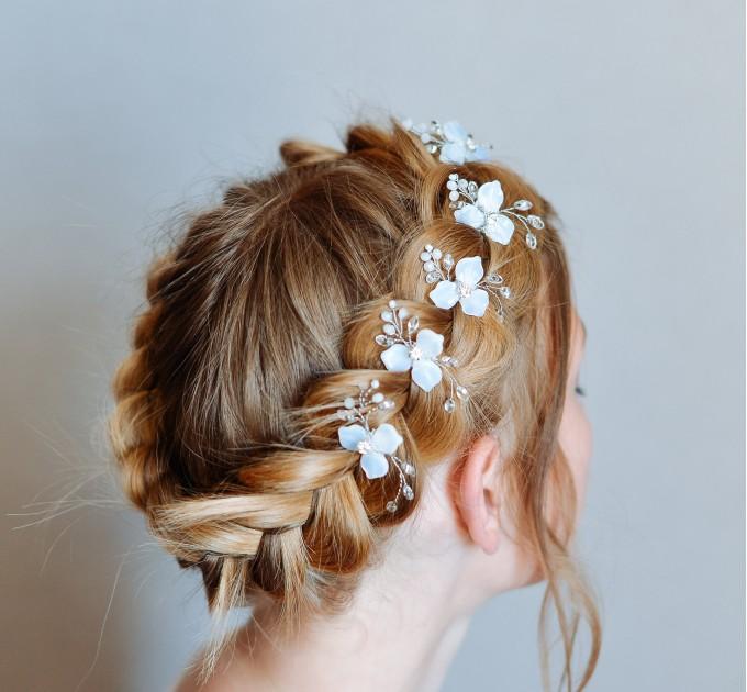 Crystal Diamond and opal Bridal Hairpin Bridal hair clip Bride hair Comb boho bride accessories bride headpiece Gold Hair Jewelry